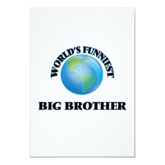 World's Funniest Big Brother 3.5x5 Paper Invitation Card