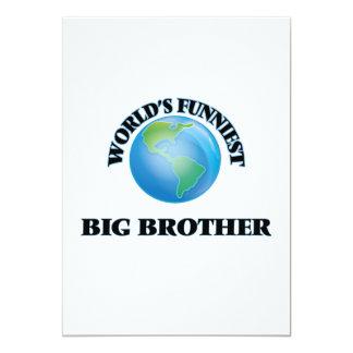World's Funniest Big Brother 5x7 Paper Invitation Card