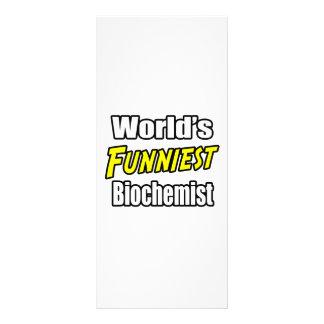 World's Funniest Biochemist Custom Rack Card