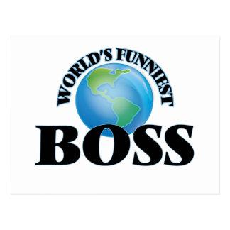 World's Funniest Boss Postcard