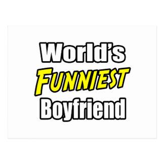 World's Funniest Boyfriend Postcard
