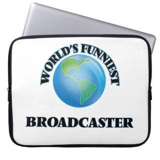 World's Funniest Broadcaster Laptop Sleeve