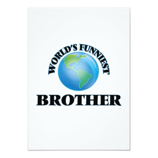 World's Funniest Brother 5x7 Paper Invitation Card