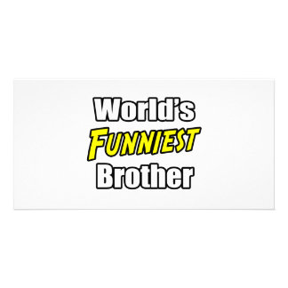 World's Funniest Brother Photo Card Template