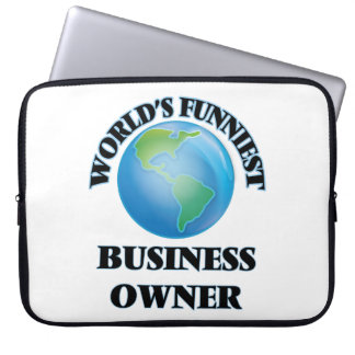 World's Funniest Business Owner Laptop Sleeve