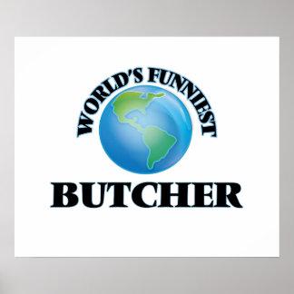 World's Funniest Butcher Print