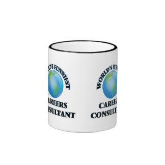 World's Funniest Careers Consultant Ringer Coffee Mug