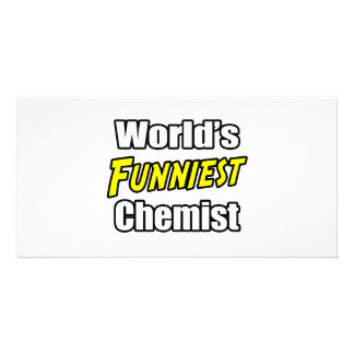 World's Funniest Chemist Customized Photo Card