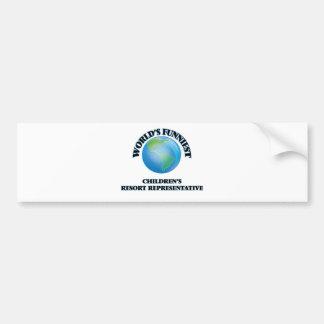 World's Funniest Children's Resort Representative Bumper Sticker