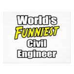 World's Funniest Civil Engineer Personalized Invites