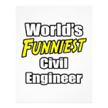 World's Funniest Civil Engineer Personalized Flyer