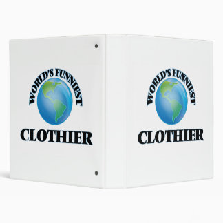 World's Funniest Clothier 3 Ring Binders