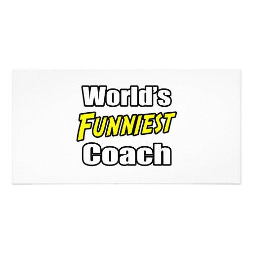 World's Funniest Coach Photo Card