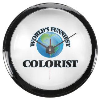 World's Funniest Colorist Aqua Clocks