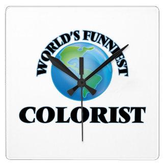 World's Funniest Colorist Square Wallclocks
