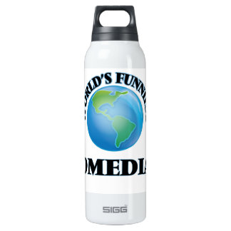 World's Funniest Comedian 16 Oz Insulated SIGG Thermos Water Bottle