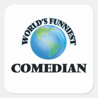 World's Funniest Comedian Square Sticker