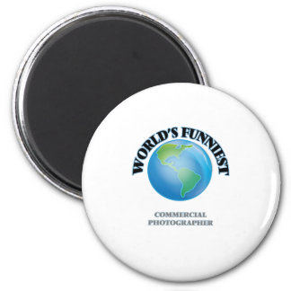 World's Funniest Commercial Photographer 2 Inch Round Magnet