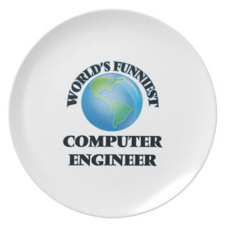 World's Funniest Computer Engineer Party Plate