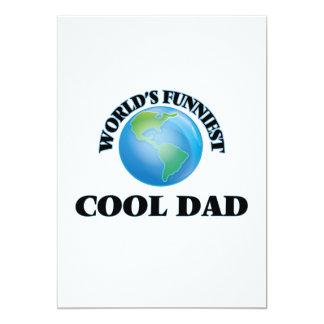 World's Funniest Cool Dad 5x7 Paper Invitation Card