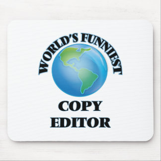 World's Funniest Copy Editor Mousepads