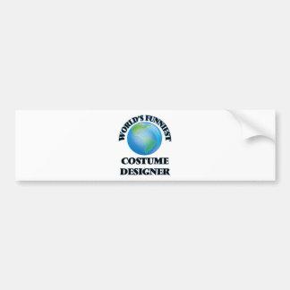 World's Funniest Costume Designer Car Bumper Sticker
