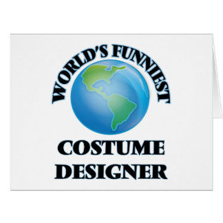 World's Funniest Costume Designer Large Greeting Card