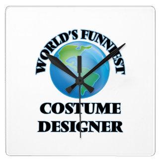 World's Funniest Costume Designer Square Wall Clock