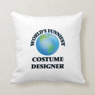 World's Funniest Costume Designer Throw Pillow