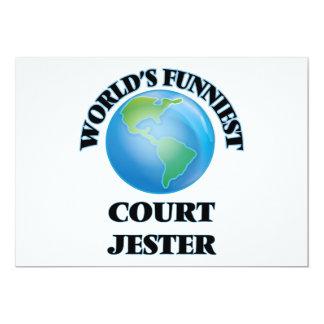 World's Funniest Court Jester 5x7 Paper Invitation Card
