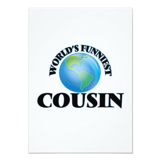 World's Funniest Cousin 5x7 Paper Invitation Card