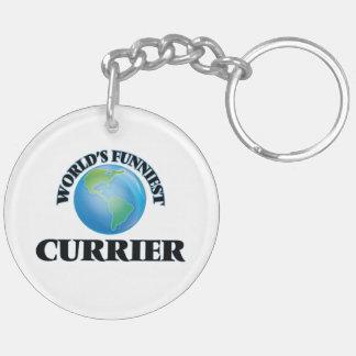 World's Funniest Currier Keychain