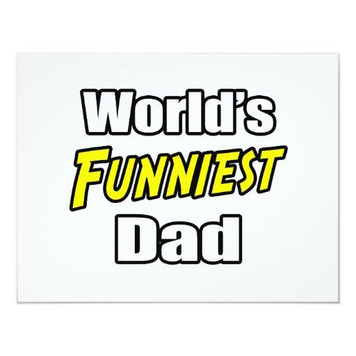 World's Funniest Dad 4.25x5.5 Paper Invitation Card