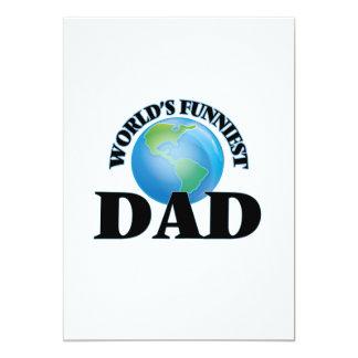 World's Funniest Dad 5x7 Paper Invitation Card