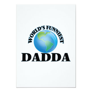 World's Funniest Dadda 5x7 Paper Invitation Card