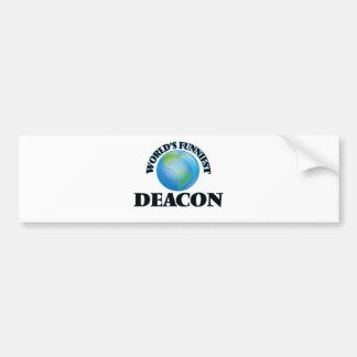 World's Funniest Deacon Car Bumper Sticker