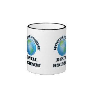 World's Funniest Dental Hygienist Ringer Mug