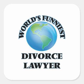 World's Funniest Divorce Lawyer Square Sticker