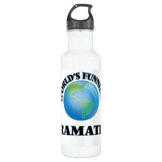 World's Funniest Dramatist 24oz Water Bottle