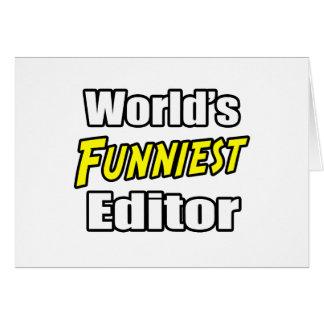 World's Funniest Editor Greeting Card