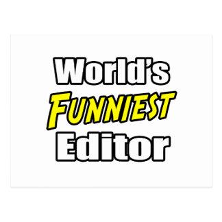 World's Funniest Editor Postcard