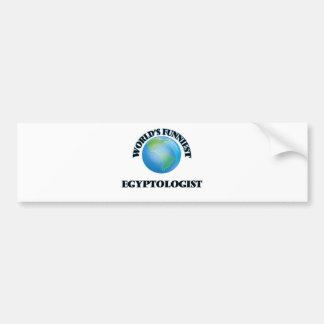 World's Funniest Egyptologist Car Bumper Sticker