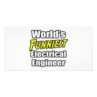World's Funniest Electrical Engineer Custom Photo Card