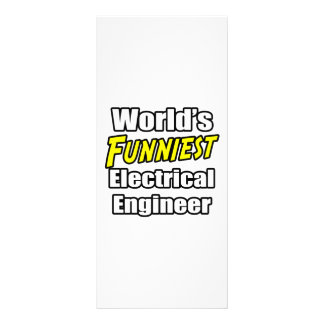 World's Funniest Electrical Engineer Rack Card Template