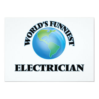 World's Funniest Electrician 5x7 Paper Invitation Card