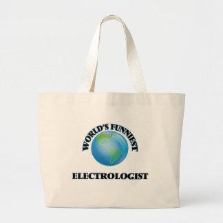 World's Funniest Electrologist Jumbo Tote Bag
