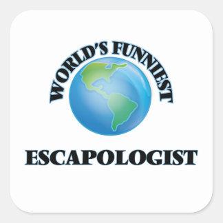 World's Funniest Escapologist Square Sticker