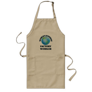 World's Funniest Factory Worker Long Apron
