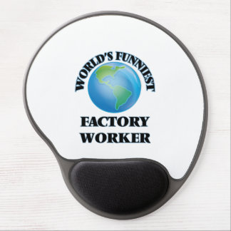 World's Funniest Factory Worker Gel Mouse Pad