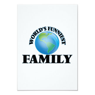 World's Funniest Family 3.5x5 Paper Invitation Card